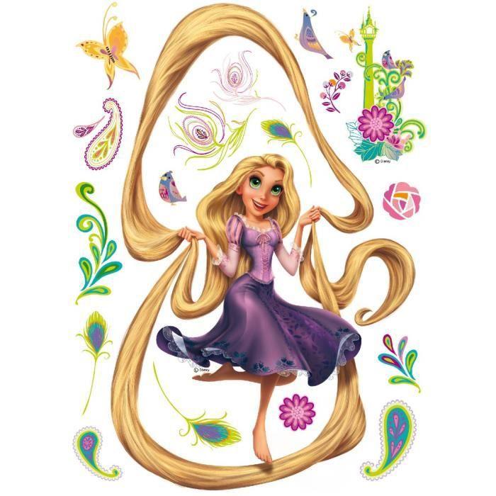 Sticker g ant princesse raiponce cheveux disney achat - Raiponse disney ...
