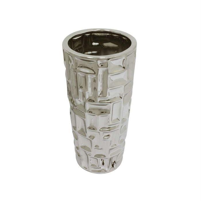 vase achille petit en c ramique couleur argent achat vente vase soliflore cdiscount. Black Bedroom Furniture Sets. Home Design Ideas