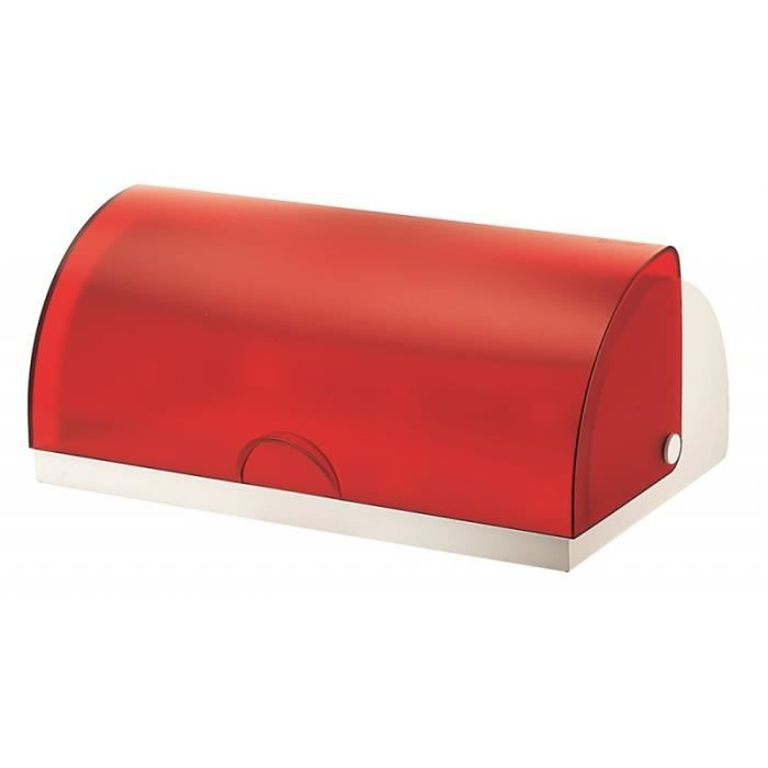 Bo te pain guzzini rouge achat vente boite sac - Huche a pain rouge ...