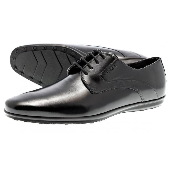 chaussure azzaro bourgi noir noir noir achat vente derby cdiscount. Black Bedroom Furniture Sets. Home Design Ideas