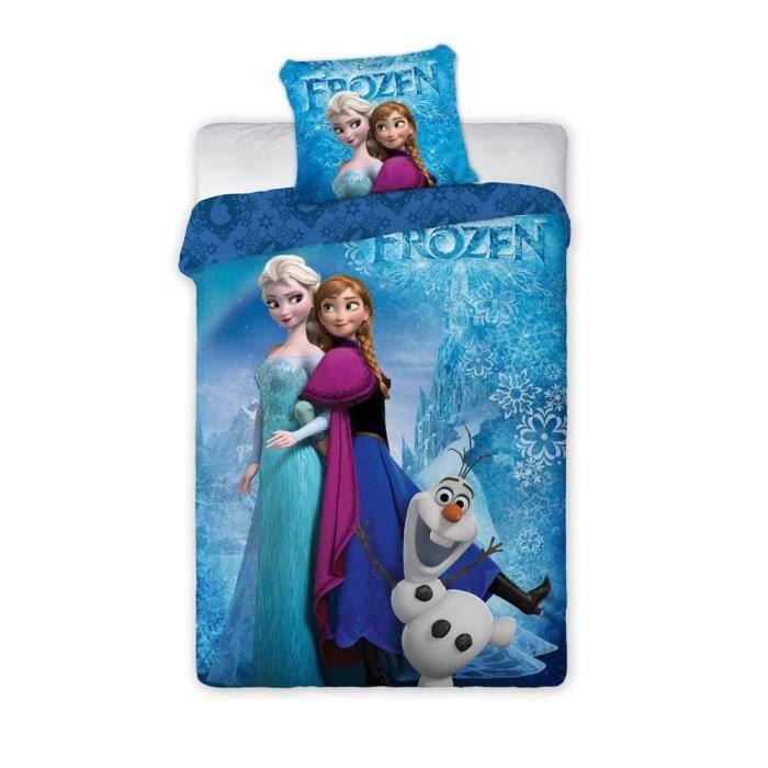 parure de lit reine des neiges housse de couette r versible achat vente parure de couette. Black Bedroom Furniture Sets. Home Design Ideas