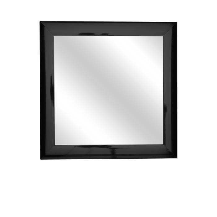 miroir carr noir noir achat vente miroir cdiscount
