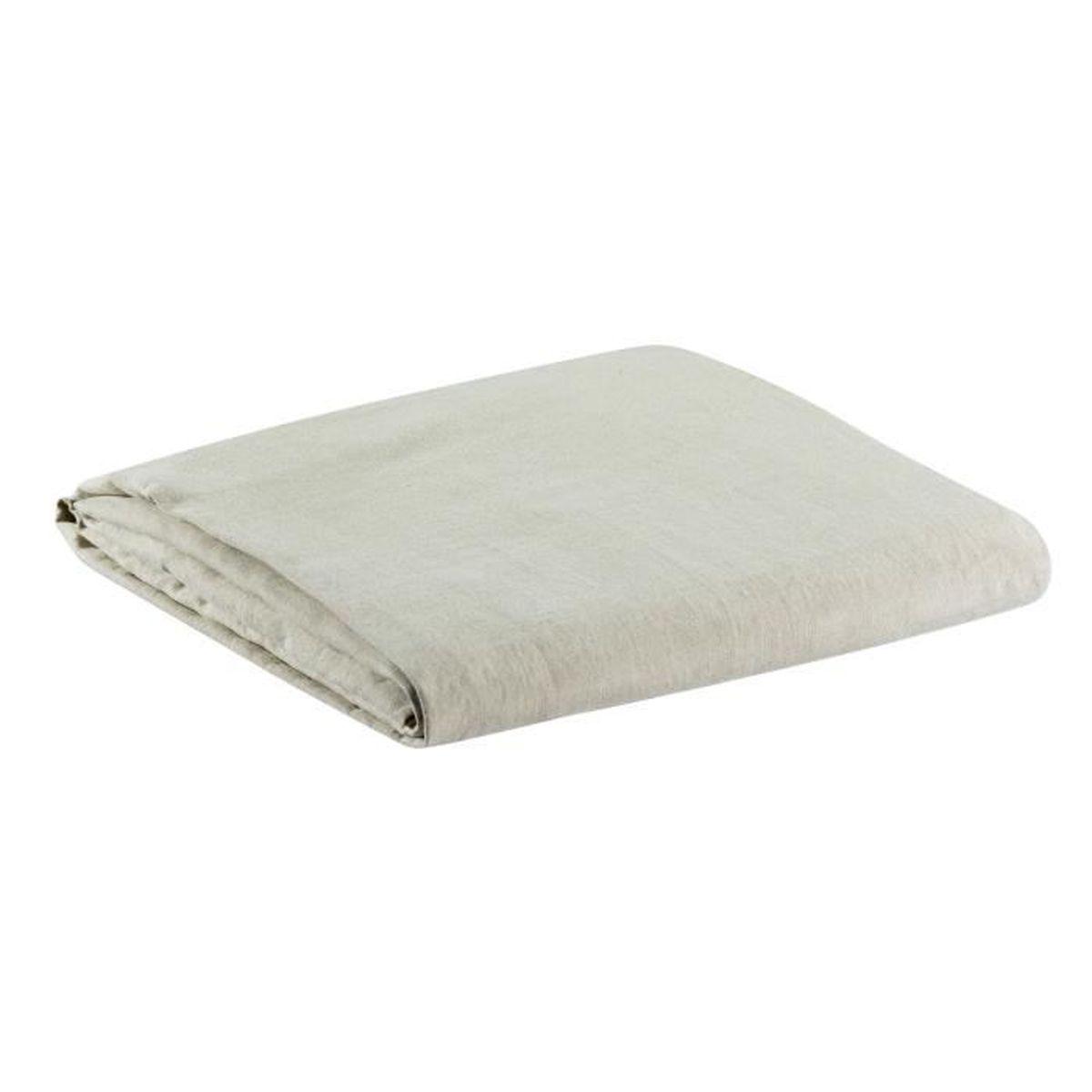 drap housse stonewashed zephyr naturel vivaraise 200 x 180 naturel achat vente housse de. Black Bedroom Furniture Sets. Home Design Ideas