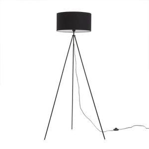 lampadaire avec abat jour noir achat vente lampadaire. Black Bedroom Furniture Sets. Home Design Ideas