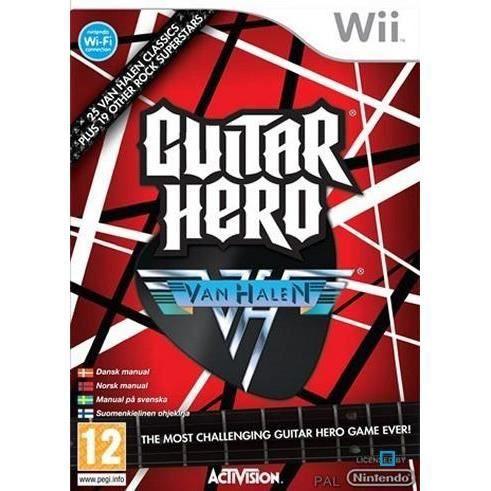 JEUX WII GUITAR HERO VAN HALEN / JEU CONSOLE NINTENDO Wii