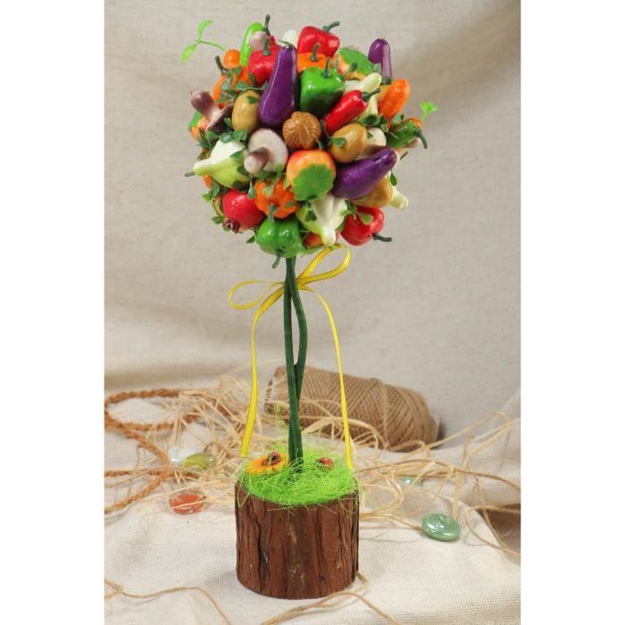 Topiaire faite main avec l gumes et fruits belle insolite d coration maison achat vente - Composition florale avec fruits legumes ...