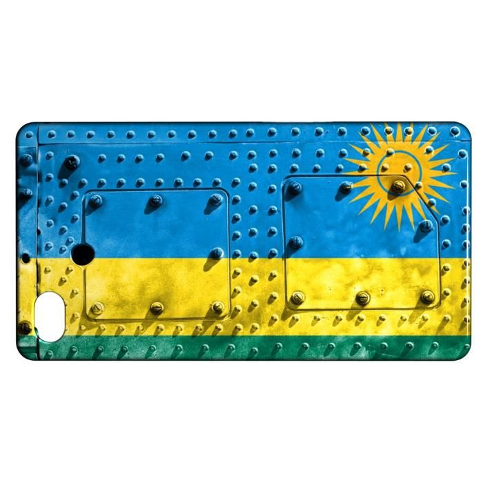 telephonie accessoires portable gsm coque iphone  s drapeau rwanda f auc