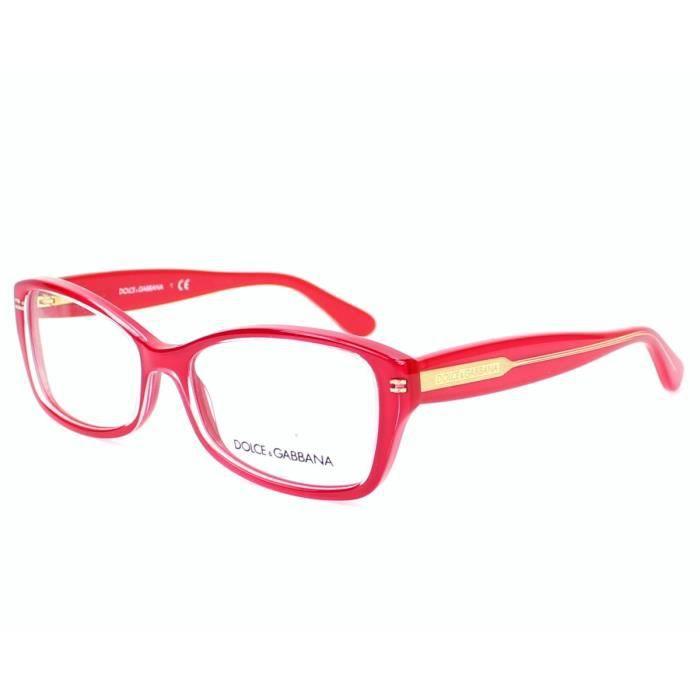 lunettes de vue dolce gabbana dg3176 2775 rouge cristal achat vente lunettes de vue. Black Bedroom Furniture Sets. Home Design Ideas