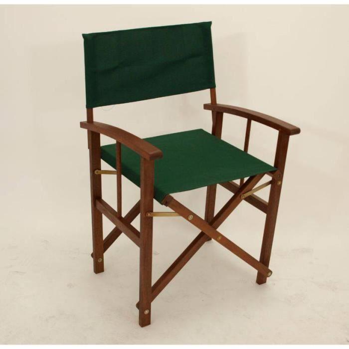 set de 2 chaises r gisseur pliantes bois d 39 eucalyptus huil certifi fsc tissu vert fonc. Black Bedroom Furniture Sets. Home Design Ideas