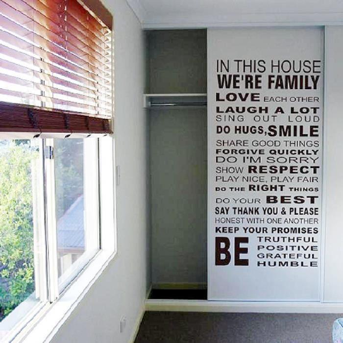 R gles maison de famille autocollants stickers muraux for Maisons de famille art et decoration