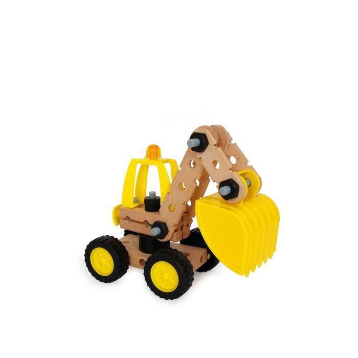 Set de construction en bois grue et pelleteuse herces achat vente assembl - Jeux de grue de construction gratuit ...