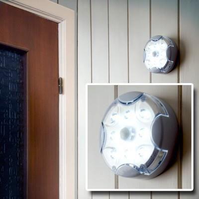 lampe 8 led avec capteur de pr sence achat vente lampe 8 led avec capteur de cdiscount. Black Bedroom Furniture Sets. Home Design Ideas