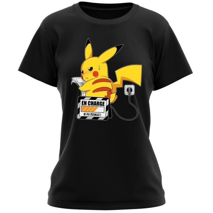 t shirt jeux vid o parodie de pikachu de pokemon en charge ne pas d ranger t shirt. Black Bedroom Furniture Sets. Home Design Ideas