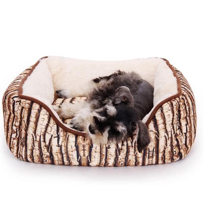 pawz road niche maison pour chien chat vieil arbre bark design arbre natural stripe rectangle m. Black Bedroom Furniture Sets. Home Design Ideas