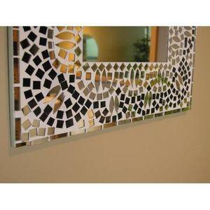Miroir mosaique achat vente miroir mosaique pas cher cdiscount - Miroir noir et blanc ...