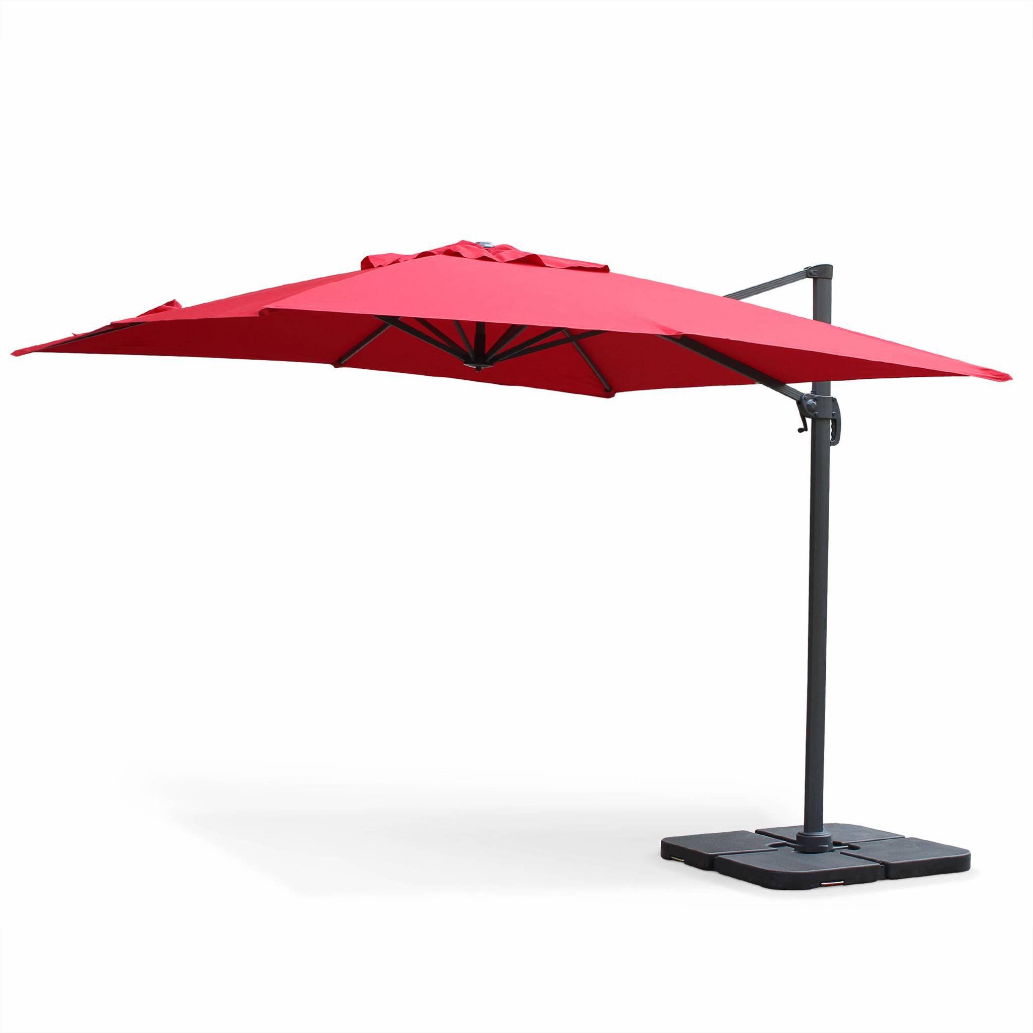 parasol d port carr 3x3m falgos achat vente parasol. Black Bedroom Furniture Sets. Home Design Ideas