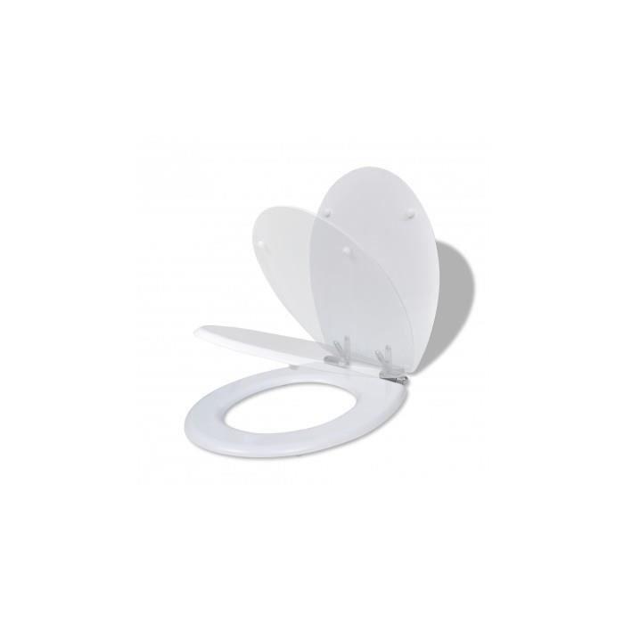 Abattant wc fermeture amortie en blanc achat vente abattant wc abattant - Abattant wc fermeture automatique ...