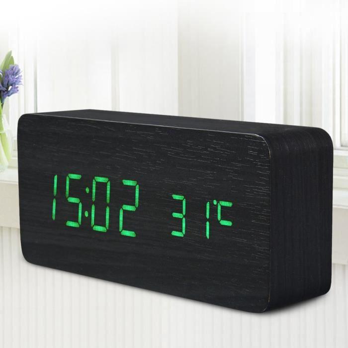 r veil en bois heure temp rature semaine du calendrier d 39 affichage pour bureau domicile avec. Black Bedroom Furniture Sets. Home Design Ideas