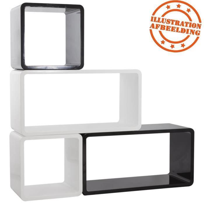 cube de rangement 39 bony 39 noir empilable achat vente