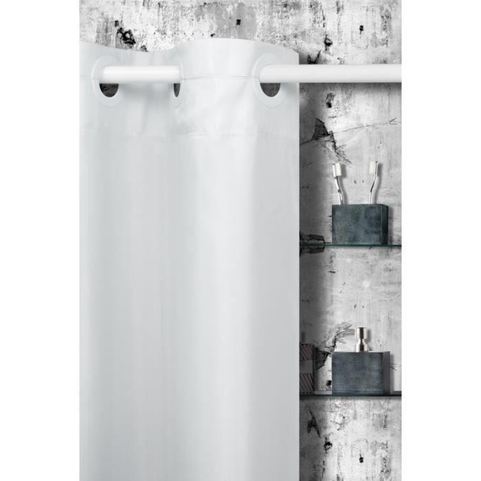 rideau de douche chance de couleur blanc achat vente rideau de douche polyester cdiscount. Black Bedroom Furniture Sets. Home Design Ideas