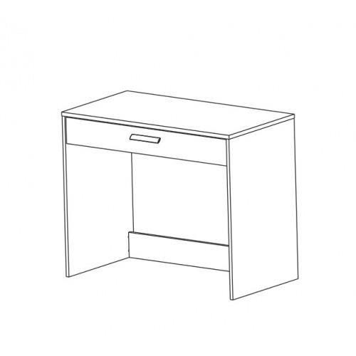 Bureau george 1 tiroir achat vente bureau bureau 1 for Bureau 1 tiroir jimi