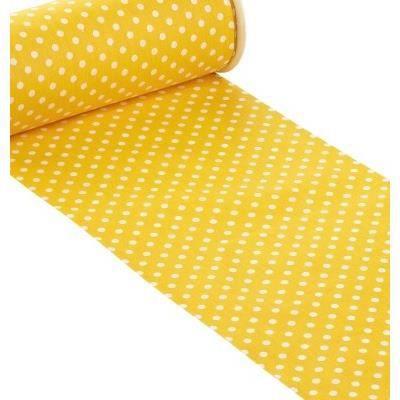 Chemin de table jaune pois blanc achat vente chemin for Chemin de table jaune