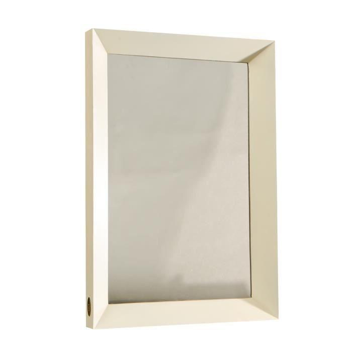 Miroir avec encadrement ivoire collection charme achat for Collection miroir