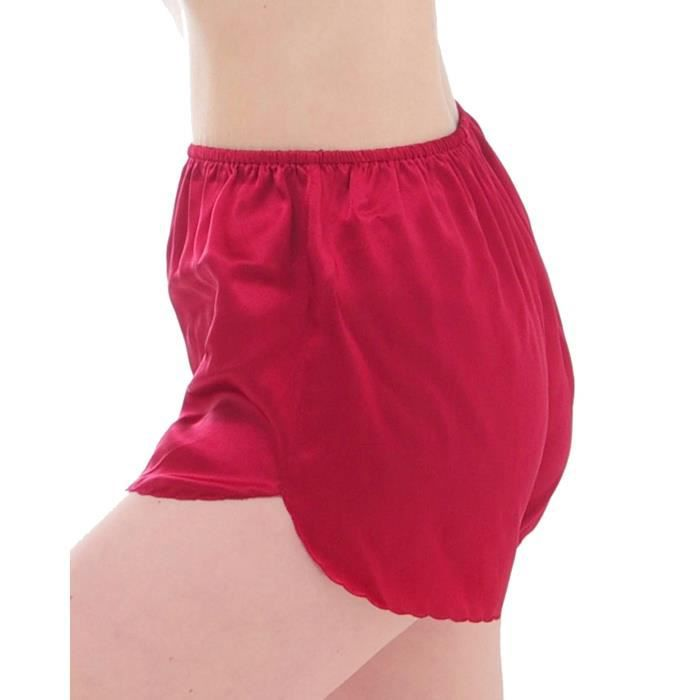 culottes camisole en soie coul cerise bour rouge achat vente culotte slip cdiscount. Black Bedroom Furniture Sets. Home Design Ideas