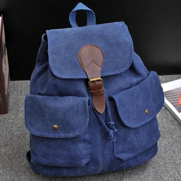 vococal sac dos cartable sac de voyage de loisir en toile femmes filles achat vente sac. Black Bedroom Furniture Sets. Home Design Ideas