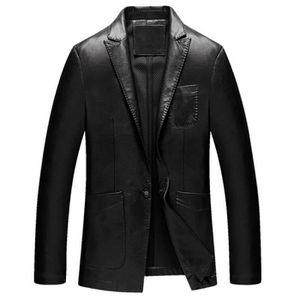 veste blazer cuir homme achat vente veste blazer cuir homme pas cher soldes cdiscount. Black Bedroom Furniture Sets. Home Design Ideas