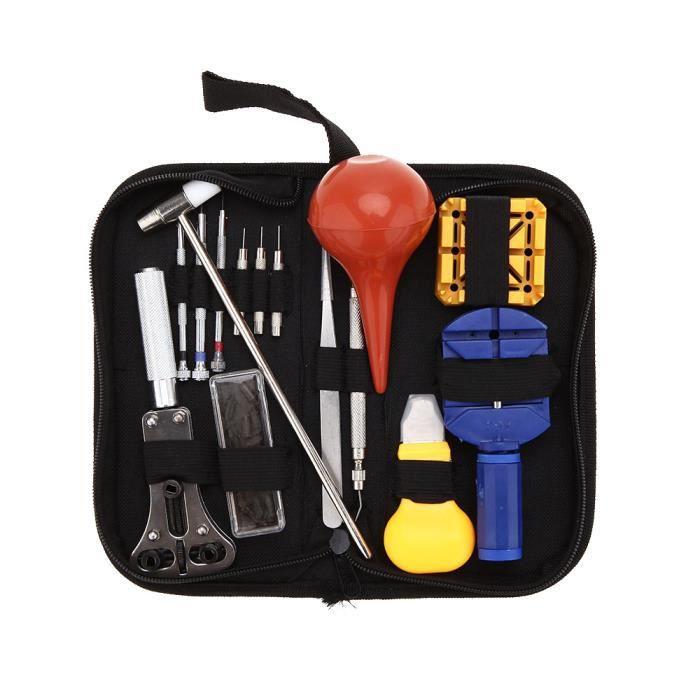 16pcs kit de r paration outil pour montre achat vente outils d horloger cdiscount. Black Bedroom Furniture Sets. Home Design Ideas