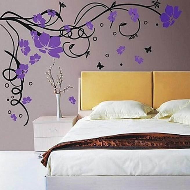 affiche murale fleur de vigne blanche en grande taille achat vente affiche cdiscount. Black Bedroom Furniture Sets. Home Design Ideas
