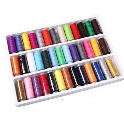 Fils coudre 39 bobines couleurs achat vente fil a for Machine a coudre 4 fils 121
