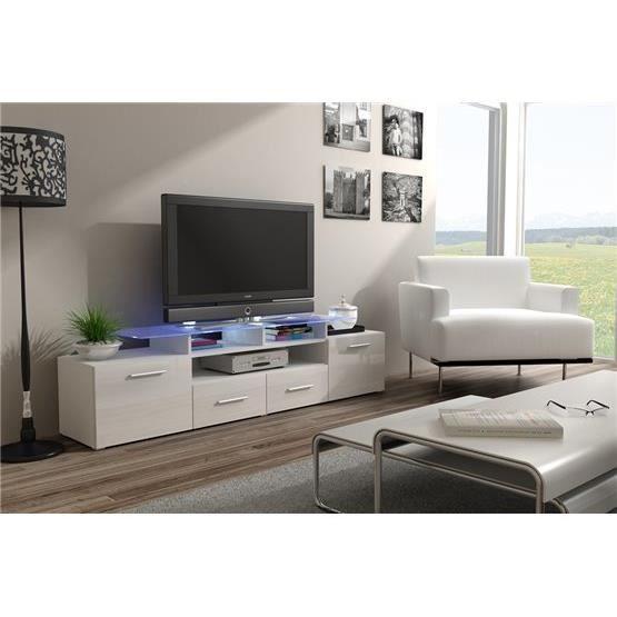 Meuble tv design evori blanc et noir achat vente meuble tv meuble tv evor - Vente privee meuble design ...