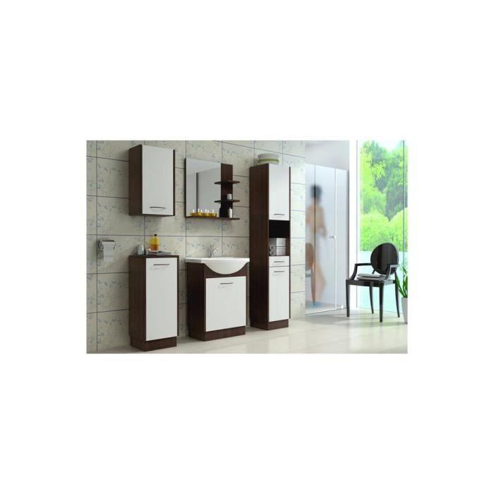 justhome nency ensemble salle de bain 4 pi ces couleur blanc mat weng achat vente. Black Bedroom Furniture Sets. Home Design Ideas