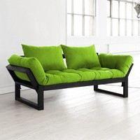 Canap futon et bois noir design edge karup achat for Bois et chiffons canape