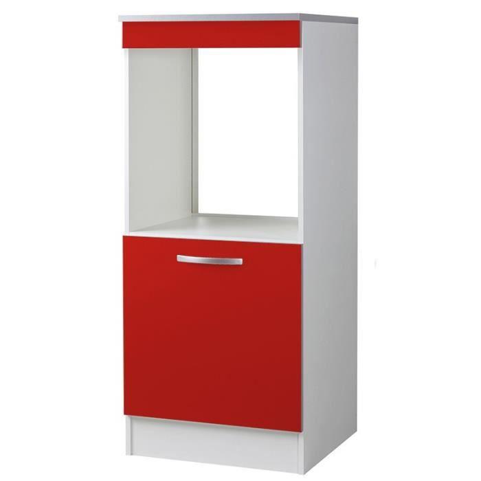 Paris prix demi colonne four 60cm smarty rouge achat - Colonne rangement plastique ...