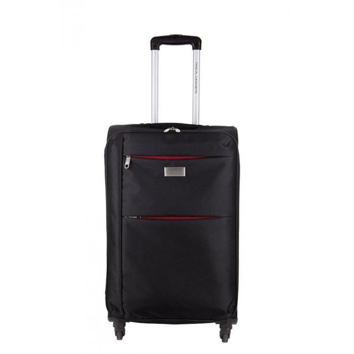 pascal morabito valise souple cuprite noir noir noir achat vente valise bagage. Black Bedroom Furniture Sets. Home Design Ideas