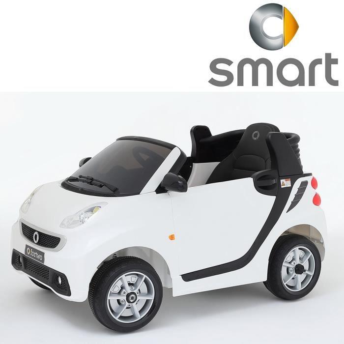 v hicule quad voiture lectrique mini smart for two pour enfant si ge cuir 12v blanc version. Black Bedroom Furniture Sets. Home Design Ideas