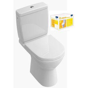 Pack wc sur pied compact Villeroy et Boch O.Novo + Abattant frein de chute