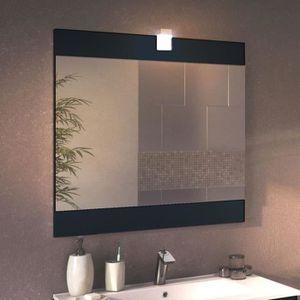 Miroir salle de bain 100 achat vente miroir salle de for Miroir avec applique