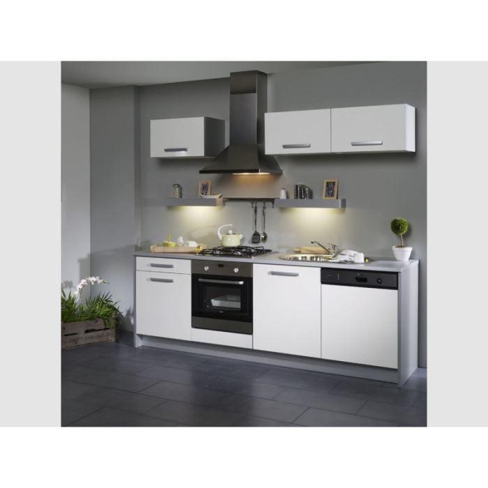 cuisine l 245 cm blanche fa ade lave vaisselle box achat vente cuisine compl te cuisine l. Black Bedroom Furniture Sets. Home Design Ideas