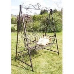 balancelle de jardin en fer forg avec support achat. Black Bedroom Furniture Sets. Home Design Ideas