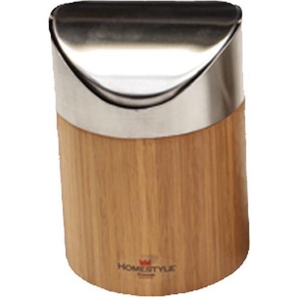 Homestyle poubelle de table 100795 achat vente for Poubelle de salle de bain bambou