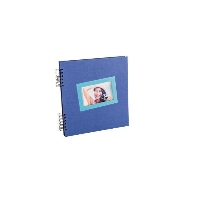 panodia album photo traditionnel ta s bleu 33x33cm 40 pages noires achat vente album album. Black Bedroom Furniture Sets. Home Design Ideas