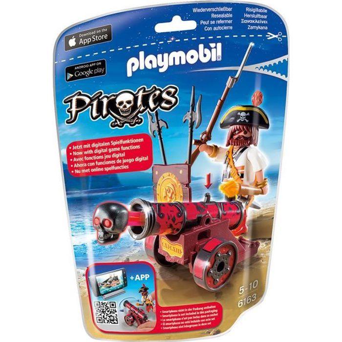6163-Pirate avec Canon Rouge de Playmobil