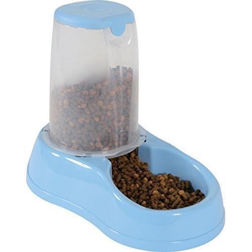 distributeur de croquettes bleu 1 5 kg pour chien et chat zolux achat vente distributeur d. Black Bedroom Furniture Sets. Home Design Ideas