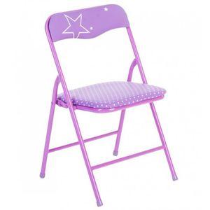 CHAISE Chaise pliante - Métal - Violet