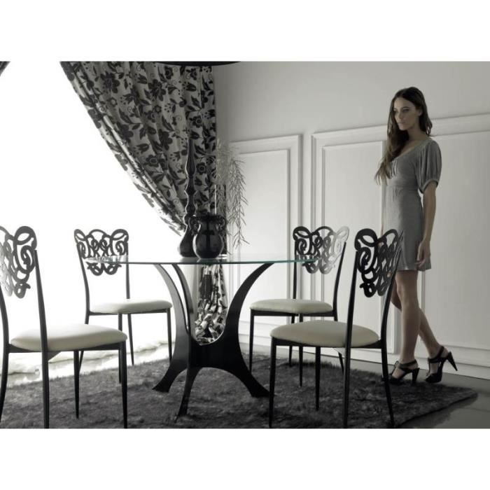 table ronde milos fer forg achat vente table a manger seule table ronde milos fer forg. Black Bedroom Furniture Sets. Home Design Ideas