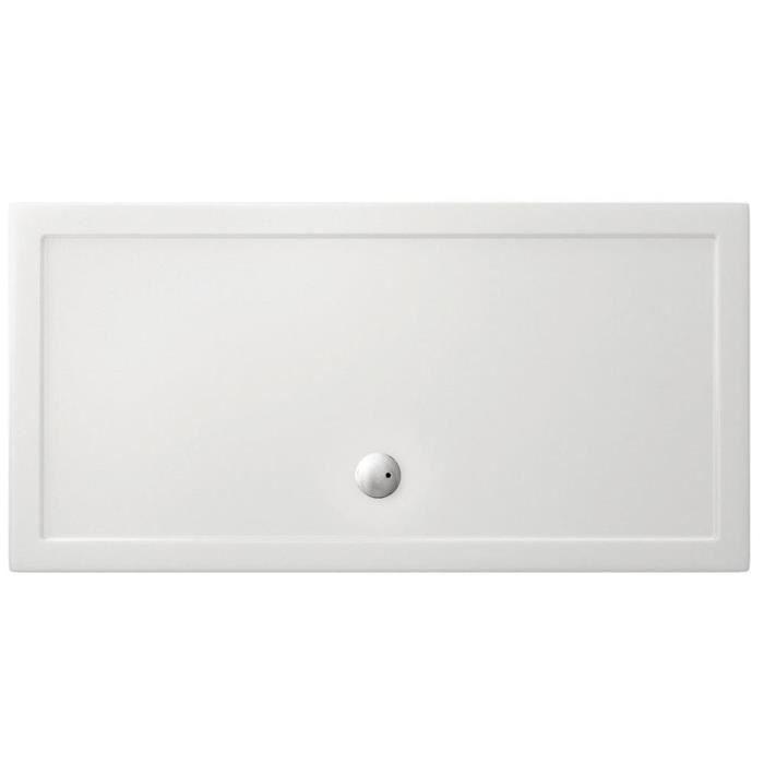 receveur de douche extra plat oxalys acrylique 1600x900 achat vente receveur de douche. Black Bedroom Furniture Sets. Home Design Ideas
